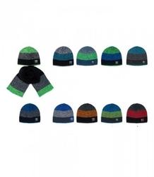 Komplet młodzieżowy ajs 36-476 czapka + szalik