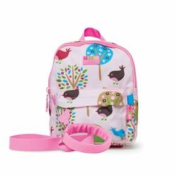 Plecak ze smyczą, Ptaszki, różowy, Penny Scallan