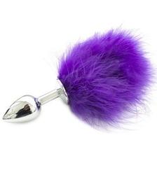 Pon tail anal plug purple - plug analny