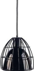 Lampa frame m klosz czarny połysk kosz czarny przewód biało-czarny