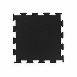 Profesjonalna podłoga pod wolne ciężary puzzle czarna - marbo sport - 6-20 mm