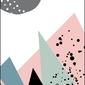 Pastelowe góry - plakat wymiar do wyboru: 60x80 cm