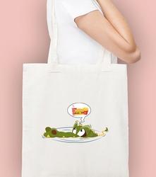 Krokodyl torba na zakupy naturalna universal