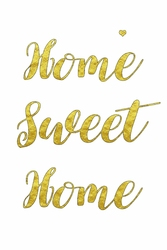 Home sweet home – plakat Wymiar do wyboru: 70x100 cm