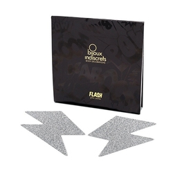 Naklejki na sutki - bijoux indiscrets flash  - srebrna błyskawica