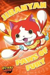 Yo-kai watch jibanyan paws of fury - plakat