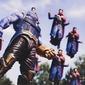 Thanos vs dr. strange - plakat wymiar do wyboru: 80x60 cm