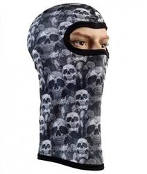 Kominiarka termoaktywna 3d - szare czaszki