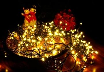 Lampki świąteczne na łańcuchu 200 led - ciepłe białe