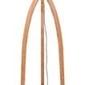 Goodmojo :: lampa podłogowa annapurna bambus 3-nożna 128cmabażur 60x30cm, lniany ciemnoszary