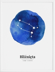 Plakat Zodiak Bliźnięta 70 x 100 cm