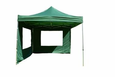 Namiot ogrodowy 3x3 m automatyczny, zielony pawilon handlowy ze ściankami