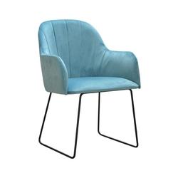 Nowoczesne krzesło tapicerowane justin u na metalowych nogach