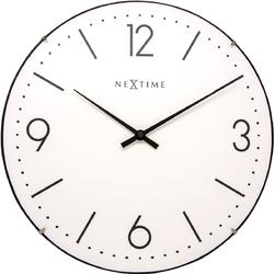 Zegar ścienny Basic Dome Nextime 35 cm, biały 3157 WI