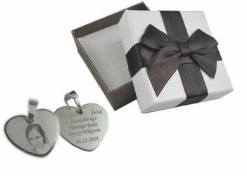 Zawieszka serce grawer zdjęcia +pudełko srebro925