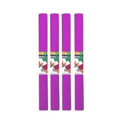 Bibuła marszczona 50x200 cm - różowa ciemna - różcie