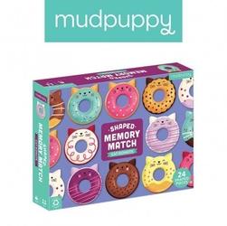 Mudpuppy gra memory koty-donuty z elementami w kształcie pączków z dziurką 24 elementy 3-8 lat