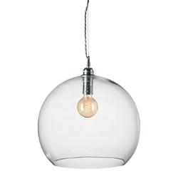 Lampa wisząca rowan - przeźroczysta ze srebrem, ø39cm
