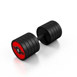 Hantla stalowa gumowana 35 kg czerwony połysk - marbo sport - 35 kg