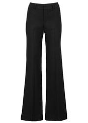 Spodnie z szerokimi nogawkami bonprix czarny