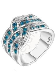Pierścionek  s 925 , akwamaryn -  biżuteria ślubna , pierścionek zaręczynowy