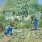 First steps, after millet, vincent van gogh - plakat wymiar do wyboru: 80x60 cm