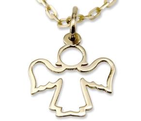 Wisiorek z żółtego złota aniołek wec-z-wis-aniołek-30