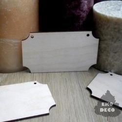 Drewniana tabliczka do decoupage 9,5x5,5 cm - 02
