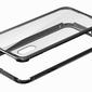 Szklane etui luphie magnetic case do iphone x xs srebrne - srebrny