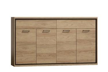 Komoda nowoczesna 4-drzwi - hikora naturalna - 180 cm - marsylia