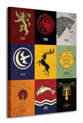 Game of thrones sigils - obraz na płótnie