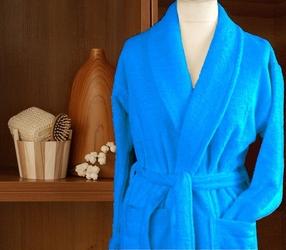 Szlafrok cortina frotex błękitny - błękitny