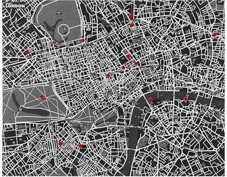 Dekoracja ścienna pin city londyn czarna
