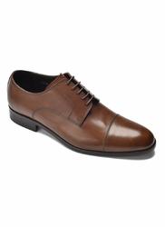 Eleganckie i luksusowe brązowe skórzane buty męskie typu derby rozmiar 43,5 40,5