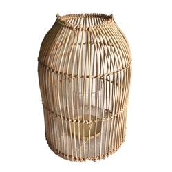 Lampion  latarenka rattanowa altom design 24 x 34,5 cm