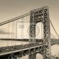Fototapeta george washington bridge czerni i bieli