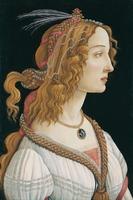 Reprodukcja idealized portrait of a lady, sandro botticelli
