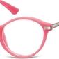 Okulary dziecięce zerówki okrągłe lenonki ak50b ciemne różowe