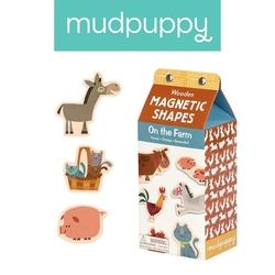 Mudpuppy zestaw drewnianych magnesów na farmie 40 elementów