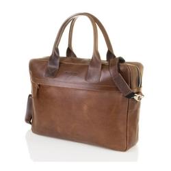 Męska torba na ramię laptop brodrene r03 jasny brąz