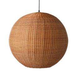 Hkliving :: lampa wisząca bambusowa 60cm brązowa