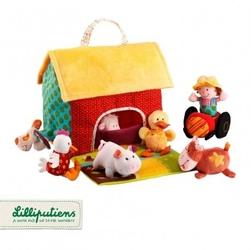 Lilliputiens domek- farma z 6 zwierzątkami i rolnikiem rozkładany 6 m+