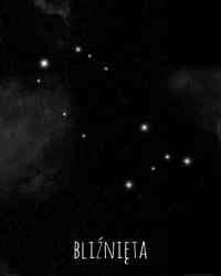 Bliźnięta konstelacja gwiazd - plakat