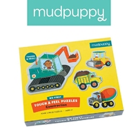 Mudpuppy puzzle sensoryczne pojazdy na budowie 1+