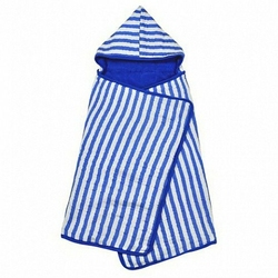 Muślinowy błękitny ręcznik z kapturem z bawełny organicznej Green Sprouts