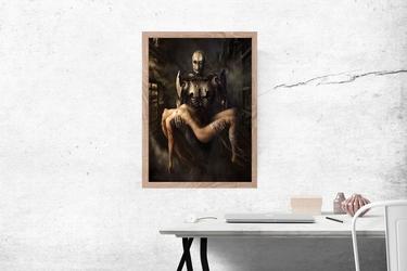Robot ratownik - plakat wymiar do wyboru: 70x100 cm