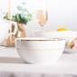 Salaterka okrągła porcelana mariapaula złota linia 14 cm