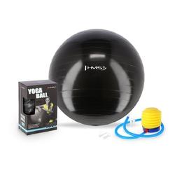 Piłka gimnastyczna yb01 55 cm czarna - hms