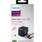 Philips podwójna ładowarka 5v3.1a 15.5w micro usb z kablem micro usb