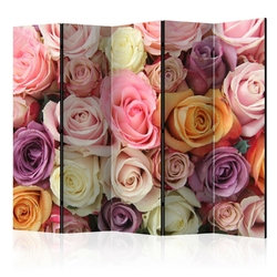 Parawan 5-częściowy - pastelowe róże room dividers
